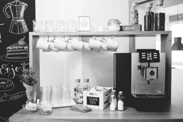 Kaffee und Snacks im farmoffice Bielefeld